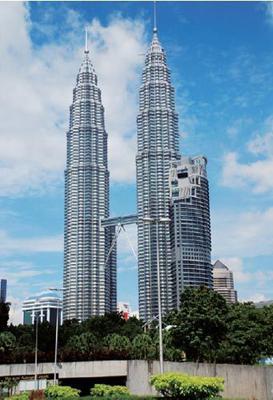 马来西亚双子塔 让人震撼的建筑