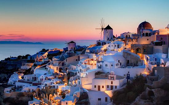 希腊令人陶醉的Greece蓝色浪漫