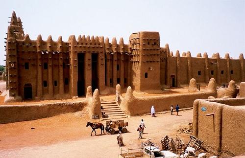 非洲马里杰内古城 伊斯兰文化的黏土之城