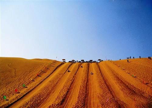 内蒙古库布其沙漠三天徒步穿越线路