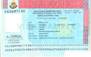 马来西亚学生/商务批文签证