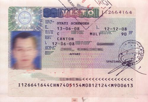 意大利商务签证