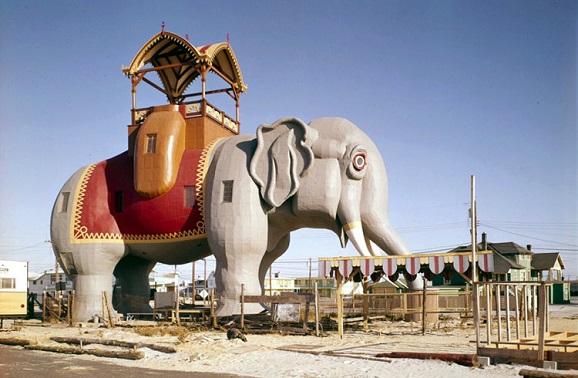 新泽西州亚特兰蒂斯城景点:露西马盖特城大象楼