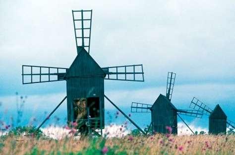 南厄兰岛的农业风景区