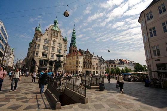 哥本哈根老城步行街旅游